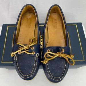 Sperry Women's Top Sider Gold Cup Navy Shoes 5.5M